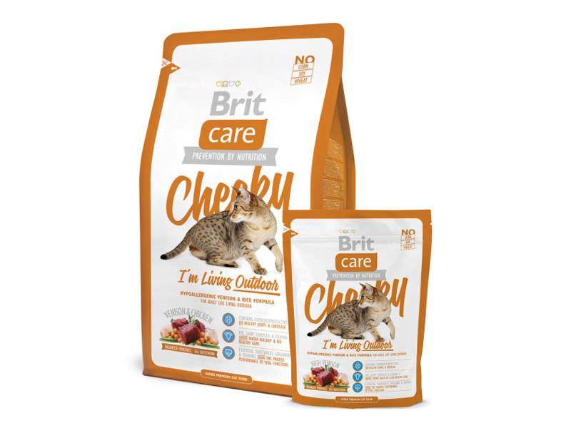 Granule BRIT CARE CAT CHEEKY I'M LIVING OUTDOOR 7 kg