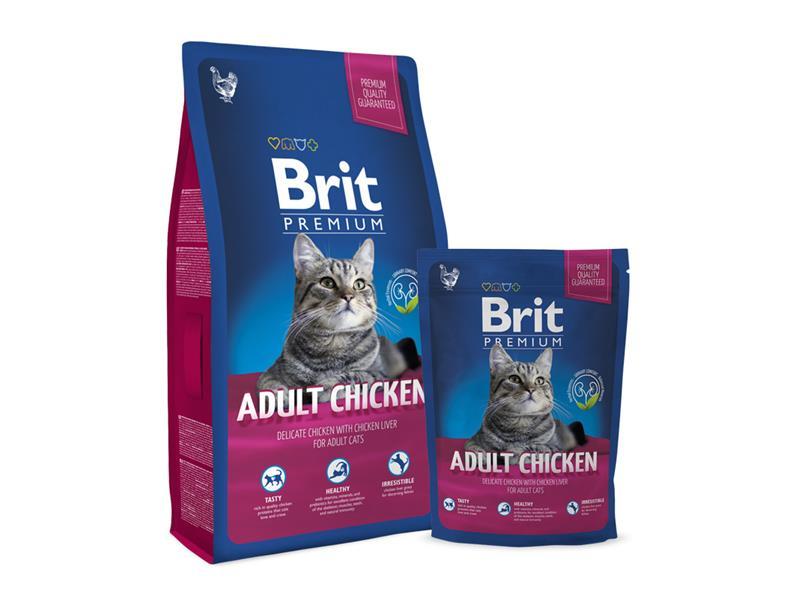 Granule BRIT PREMIUM CAT ADULT CHICKEN 8 kg
