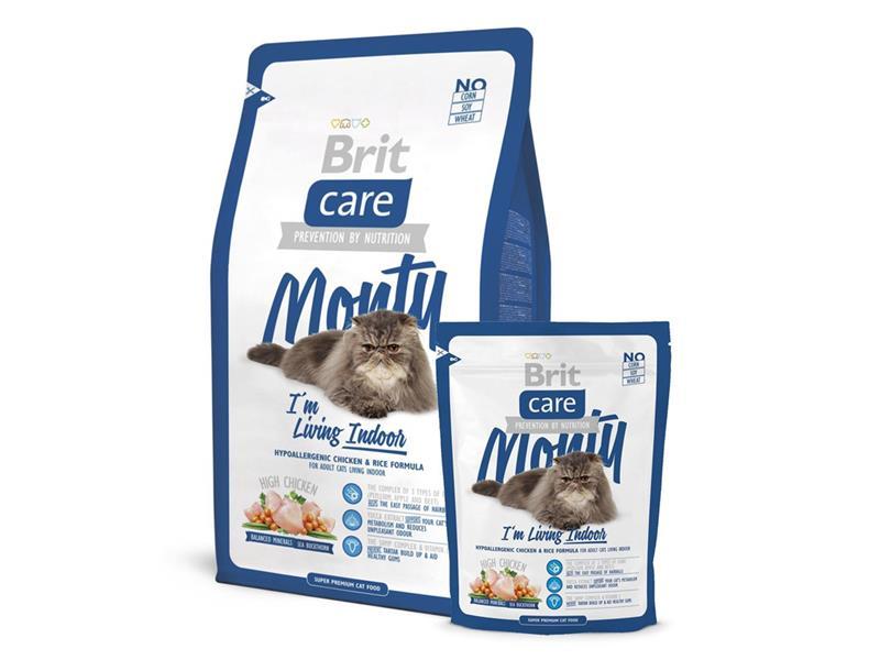 Granule BRIT CARE CAT MONTY I'M LIVING INDOOR 7 kg