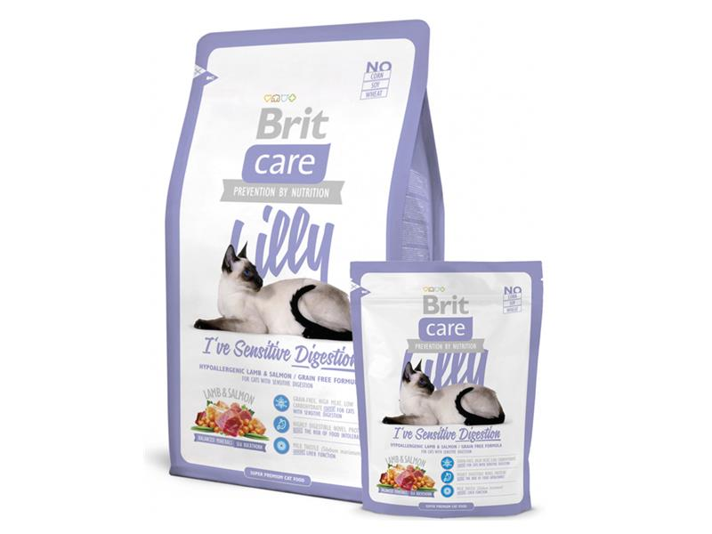 Granule BRIT CARE CAT LILLY I'VE SENSITIVE DIGESTION 7 kg