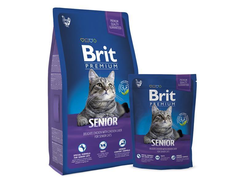 Granule BRIT PREMIUM CAT SENIOR 8 kg