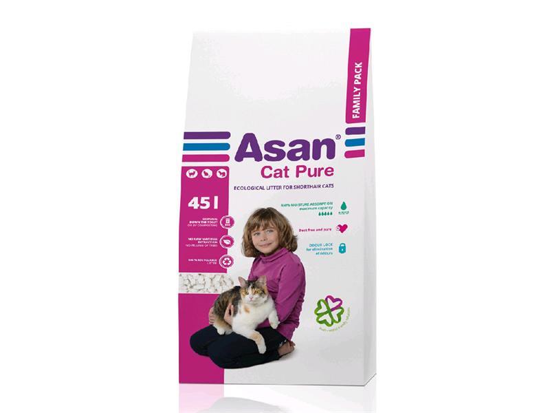 Podestýlka ASAN CAT PURE FAMILY, 45L