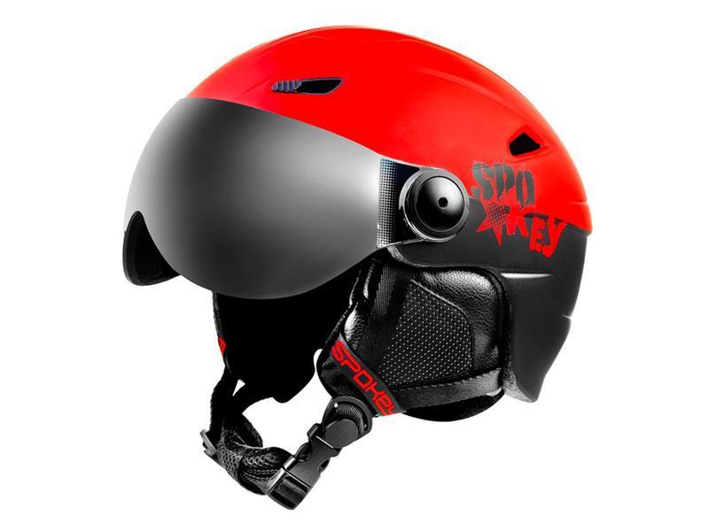 Přilba lyžařská SPOKEY JASPER černo-červená  vel.L/XL
