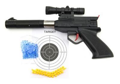 Dětská pistole se zaměřovačem TEDDIES na měkké a vodní kuličky 30 cm