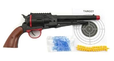 Dětské pistole TEDDIES na měkké a vodní kuličky 33 cm