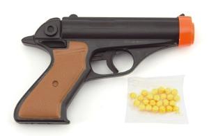 Dětská pistole TEDDIES na kuličky 17 cm
