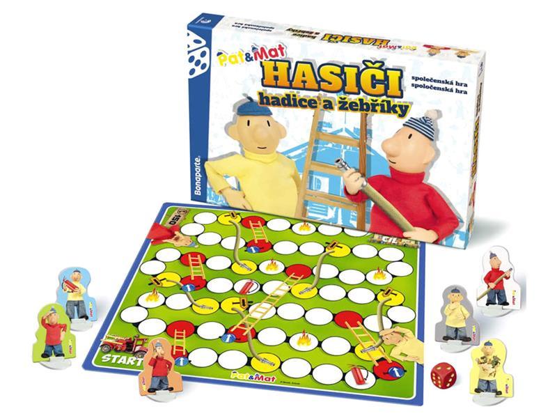 Hra stolní BONAPARTE Hasiči hadice a žebříky Pat a Mat