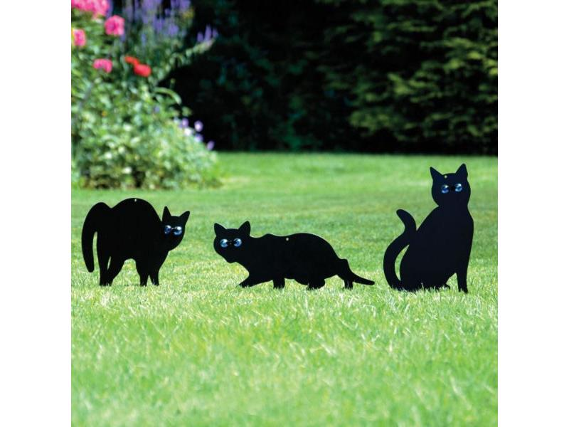 Maketa kočky HUTERMANN sada 3ks, s blyštivýma očima