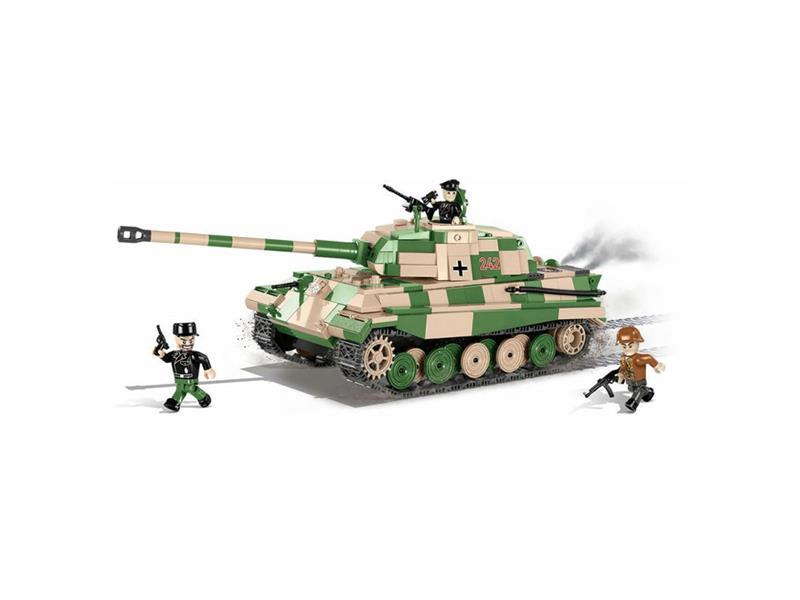 Levně Stavebnice COBI 2480A Small Army II WW PzKpfw VI Tiger II, 630 k, 3 f