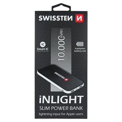 PowerBank SWISSTEN iNLIGHT SLIM 10000mAh