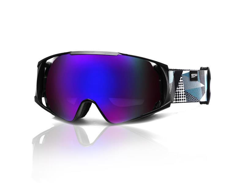 Brýle lyžařské SPOKEY DENNY černo-šedo-bílé