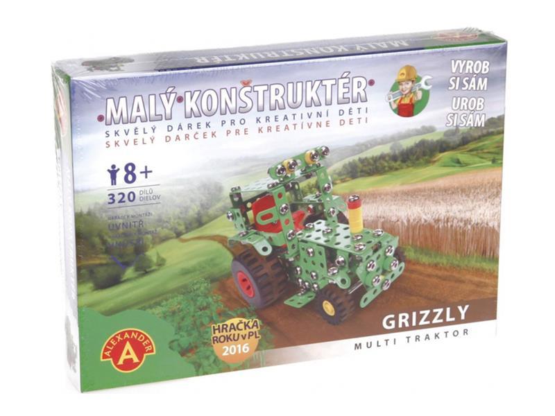 Stavebnice PEXI MALÝ KONSTRUKTÉR traktor Grizzly