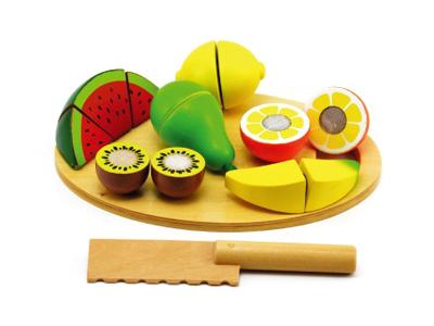 Dětské ovoce s prkénkem TEDDIES 17ks