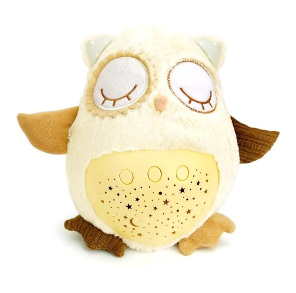 Dětská plyšová sovička TEDDIES USÍNÁČEK 25 cm