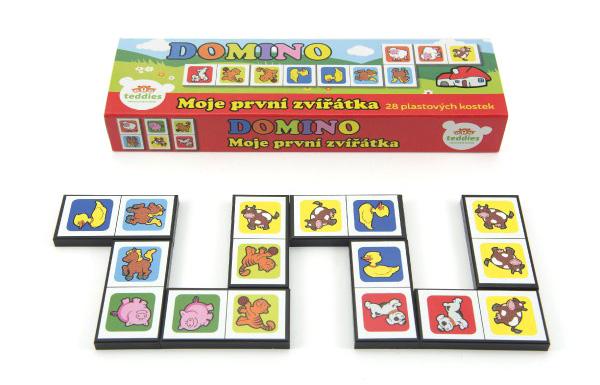 Dětské domino TEDDIES Moje první zvířátka 28ks