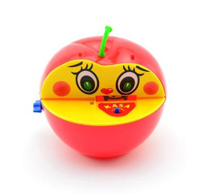 Dětská pokladnička TEDDIES Červené jablko s červíkem