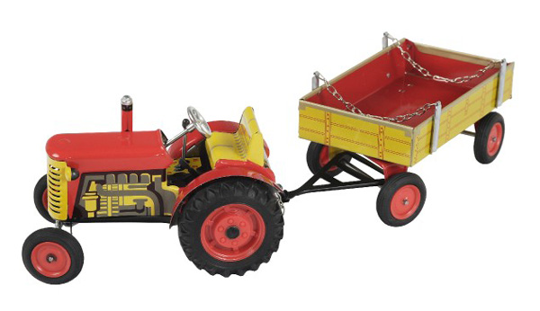 Dětský traktor KOVAP ZETOR RED 28 cm