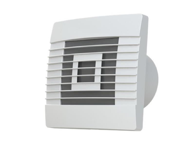 Ventilátor stěnový axiální s žaluzií AV PRO 100 s časovým doběhem