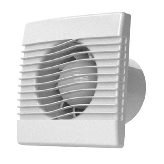Ventilátor stěnový axiální BASIC 100 s časovým doběhem TES HACO 906
