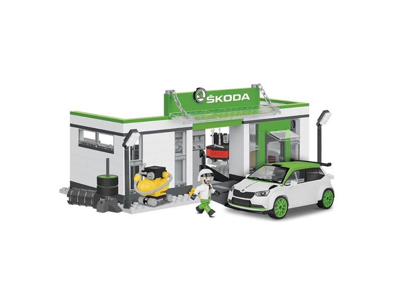 Stavebnice COBI 24580 Škoda Fabia R5 - Racing garáž