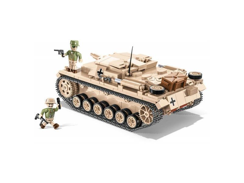 Stavebnice COBI 2529 II WW Sturmgeschutz III Ausf. D - DAK, 530 k, 2 f