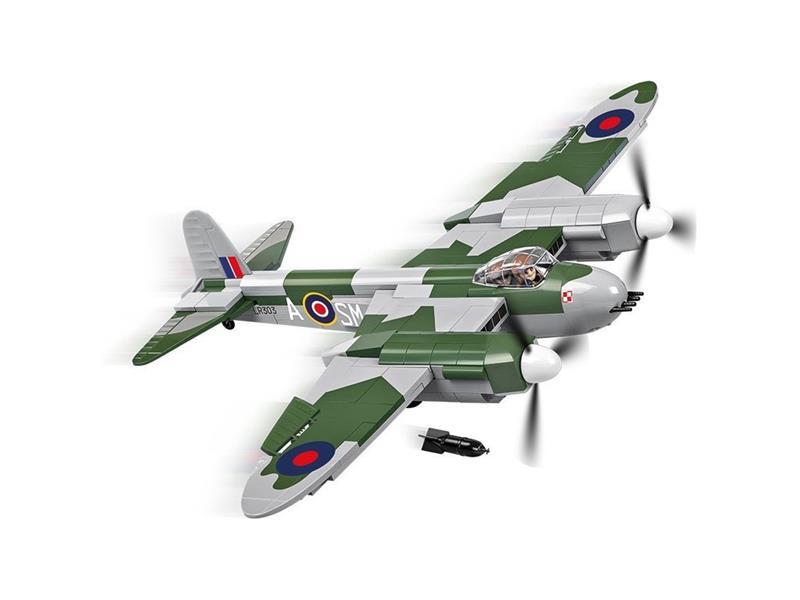 Stavebnice COBI 5542 Small Army II WW De Havilland Mosquito, 370 k, 1 f