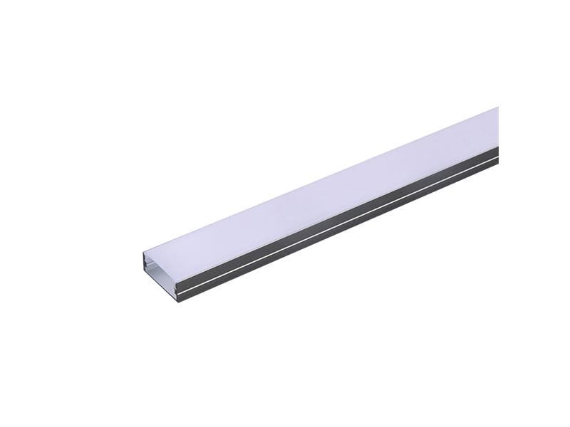 AL profil pro LED, AS3 pro více pásků 23,5x10mm l=2m (zacvakávací/zasunovací)