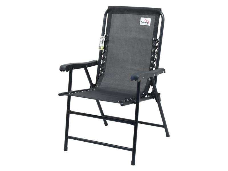 Židle zahradní CATTARA 13466 TERST skládací černá