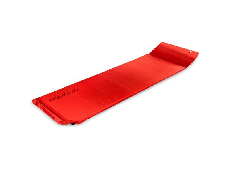 Karimatka samonafukovací SPOKEY SAVORY PILLOW s polštářem červená