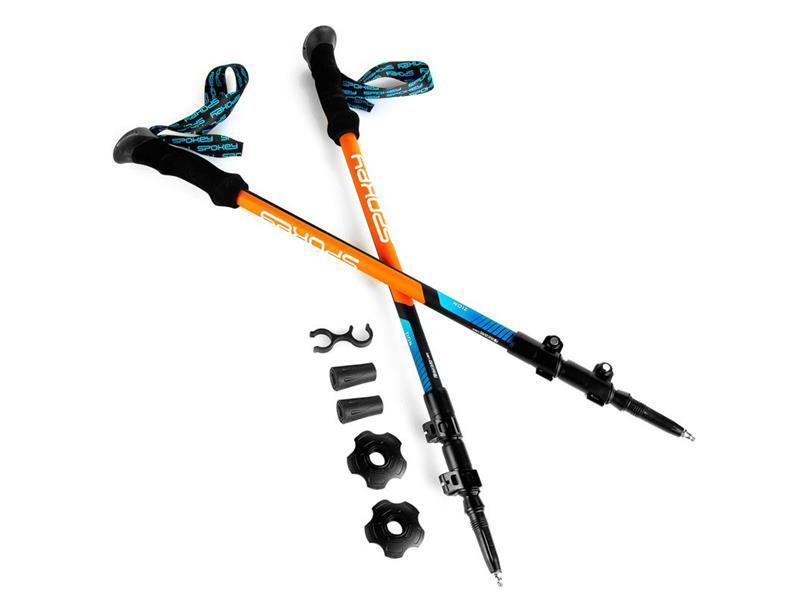 Hole trekingové SPOKEY ZION 1 pár s příslušenstvím modro-oranžové