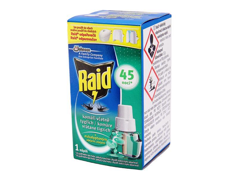 RAID elektrický - tekutá náplň s eukalyptovým olejem 27ml