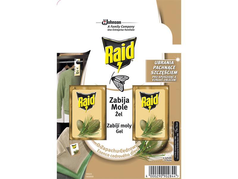 RAID proti molům s vůní cedru 2ks