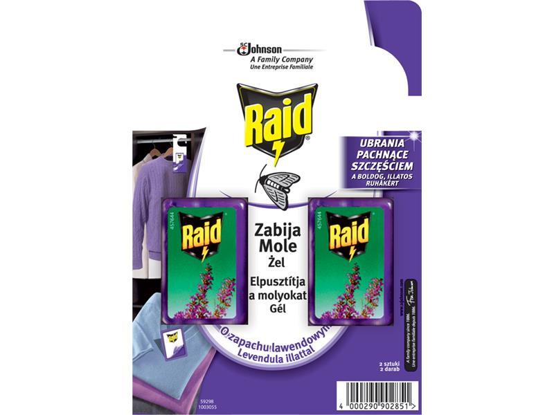 RAID proti molům s vůní levandule 2ks