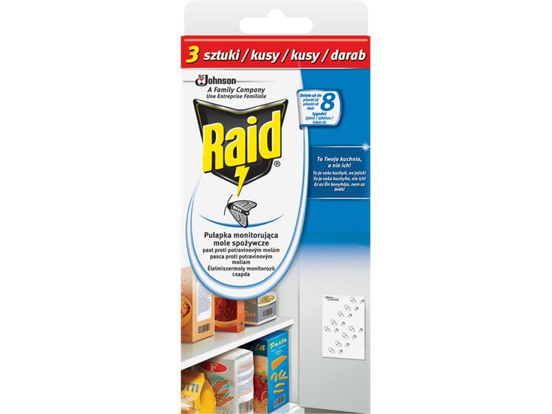 RAID proti potravinovým molům 3ks