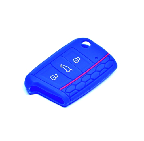 Obal na klíče ŠKODA OCTAVIA III 2012 a více BLUE silikon