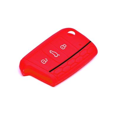 Obal na klíče ŠKODA OCTAVIA III 2012 a více RED silikon