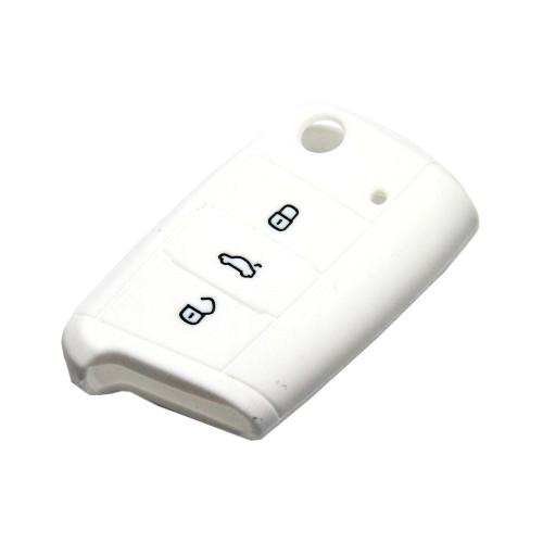 Obal na klíče ŠKODA OCTAVIA III 2012 a více WHITE silikon