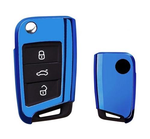 Obal na klíče ŠKODA OCTAVIA III 2012 a více BLUE PREMIUM silikon
