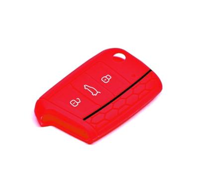 Obal na klíče ŠKODA KAROQ 2017 a více RED silikon