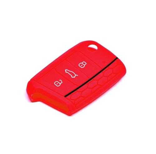 Obal na klíče ŠKODA KODIAQ 2017 a více RED silikon
