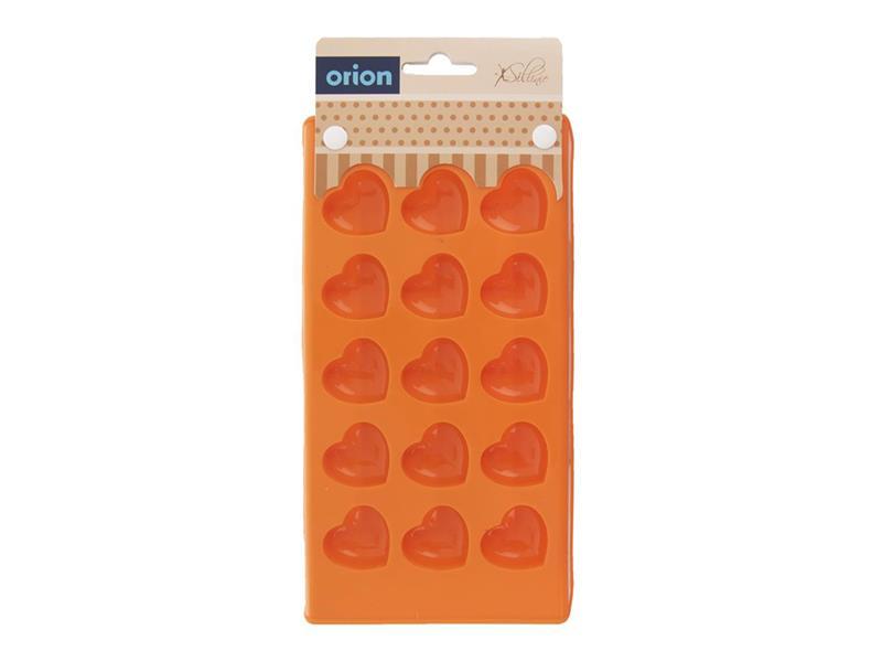 Forma ORION Srdce silikon oranžová