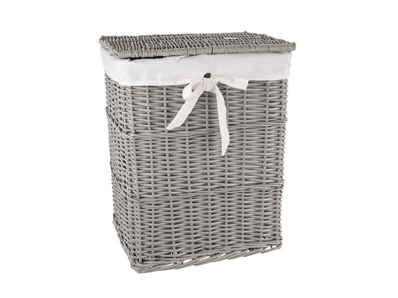 Koš na prádlo ORION šedý 37x27x49cm