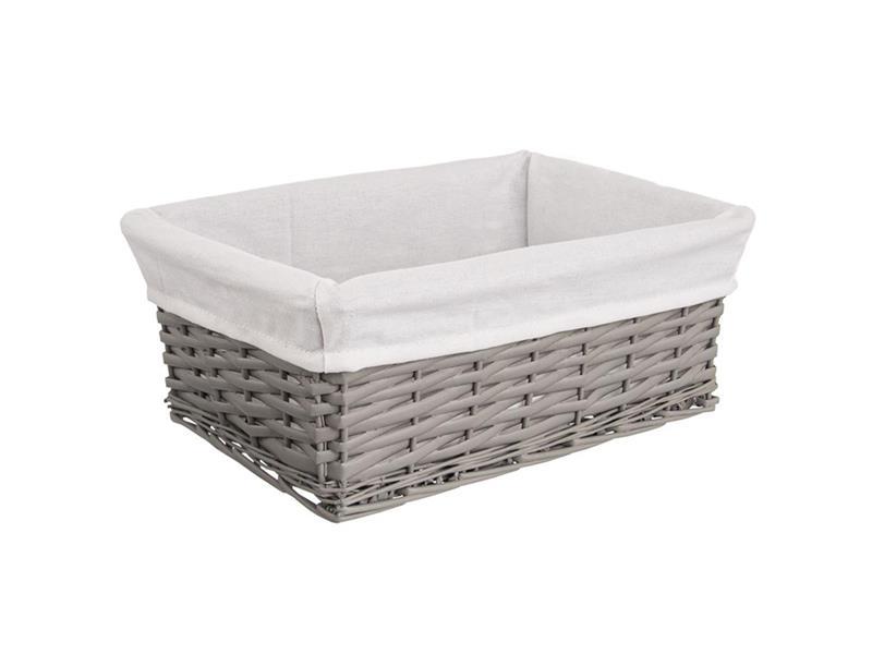 Košík ORION šedý 40x30x16,5cm