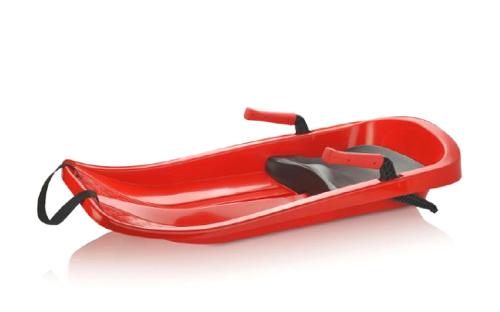 Dětský bob TEDDIES CHAMPION RED 85x40cm