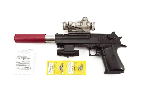 Dětská pistole TEDDIES na vodní kuličky a náboje 33 cm