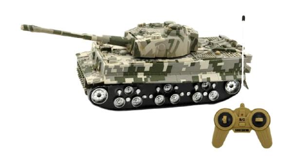 Tank TEDDIES TIGER se zvukem a světlem 25 cm