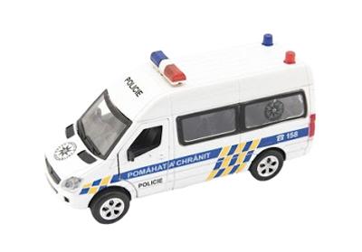 Dětské policejní auto TEDDIES se zvukem a světlem 15 cm