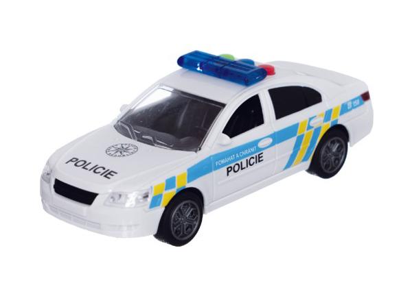 Dětské policejní auto na setrvačník TEDDIES se zvukem a světlem 15 cm