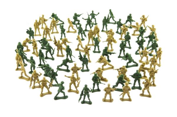Sada vojáků TEDDIES ARMY I 2 barvy CZ design 18x19.5cm