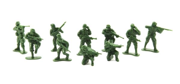 Sada vojáků TEDDIES ARMY CZ design 11.5x17cm
